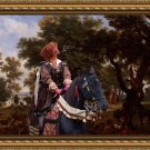 Hungarian Shorthaired Vizsla Fine Art Canvas Print - Henri IV and his Suite Hunting