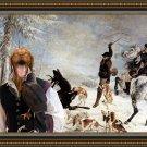 Hungarian Shorthaired Vizsla Fine Art Canvas Print - The deer caught