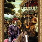 Irish Red and White Setter Fine Art Canvas Print - The arrival of King Charles