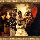 Irish Red Setter Fine Art Canvas Print - Arlequin and colombine