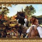 Irish Red Setter Fine Art Canvas Print - Flemish village