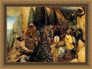 Irish Red Setter Fine Art Canvas Print - The Conversion of Paul Saint