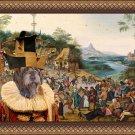 Korthals Pointing Griffon Fine Art Canvas Print - Village dance