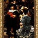 Large Munsterlander Fine Art Canvas Print - The Round of Night