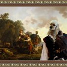 American Cocker Spaniel Fine Art Canvas Print - Travellers with hounds and heavily laden mules