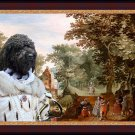 Barbet Fine Art Canvas Print - A view an Castle and Queen