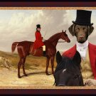Chesapeake Bay Retriever Fine Art Canvas Print - Master of the Old Surrey Hunt