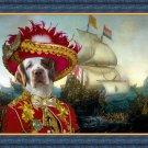 Clumber Spaniel Fine Art Canvas Print - Pirate attack