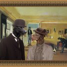Curly Coated Retriever Fine Art Canvas Print - A letter