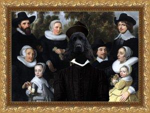 English Cocker Spaniel Fine Art Canvas Print - An Unknown Family in a Landscape