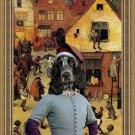 English Cocker Spaniel Fine Art Canvas Print - Village celebration