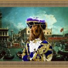 English Cocker Spaniel Fine Art Canvas Print - Casanova in Venice