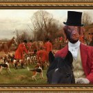 Flat Coated Retriever Fine Art Canvas Print - Before the hunt