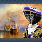 Flat Coated Retriever Fine Art Canvas Print - The fighting Temeraire