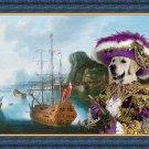Golden Retriever Fine Art Canvas Print - My ship in bay