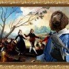 Irish Water Spaniel Fine Art Canvas Print - Danse sur les bords de Manzaamares