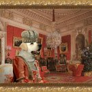Labrador Retriever Fine Art Canvas Print - Queen in Red room