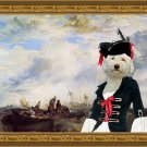 Lagotto Romagnolo Fine Art Canvas Print - Pirate Lady and shipwreck