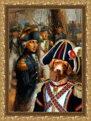 Nova Scotia Duck Tolling Retriever Fine Art Canvas Print - Admiral Lord Nelson