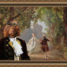 Portuguese Water Dog Fine Art Canvas Print - My Lady