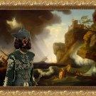 Portuguese Water Dog Fine Art Canvas Print - The Shipwreck