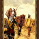 Welsh Springer Spaniel Fine Art Canvas Print - Soldiers return Home