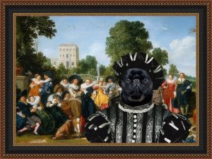 Brussels Griffon Fine Art Canvas Print - The Banquet