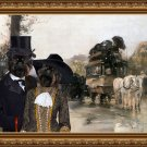 Brussels Griffon Fine Art Canvas Print - Waiting for the diligence