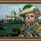 Chihuahua Long Haired Fine Art Canvas Print - Casanova in Venice