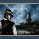 Chihuahua Long Haired Fine Art Canvas Print - The windmill and musqeutir