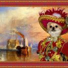 Chihuahua Long Haired Fine Art Canvas Print - The fighting Temeraire