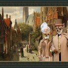 Chihuahua Smooth Haired Fine Art Canvas Print - The couple at Dutch street
