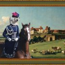 Chinese Crested Dog Fine Art Canvas Print - Powder Puff View of Pirna from the Sonnenstein Castle