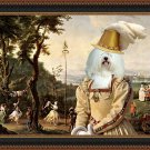Coton de Tulear Fine Art Canvas Print - The spectatress fun in the castle park