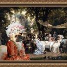 French Bulldog Fine Art Canvas Print - The gallant party