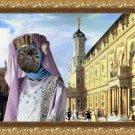 French Bulldog Fine Art Canvas Print - Renaissance palace and Princess