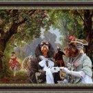 King Charles Spaniel Fine Art Canvas Print - Promenade at Park