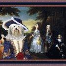 Lowchen Fine Art Canvas Print - The Jones Family