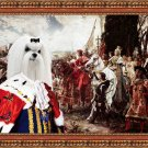 Maltese Fine Art Canvas Print - The reverance to the King