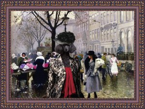 Poodle Fine Art Canvas Print - The Flower Market Copenhagen
