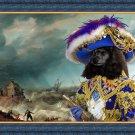 Poodle Fine Art Canvas Print - Pirate shipwreck