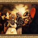Poodle Fine Art Canvas Print - Arlequin and Colombine