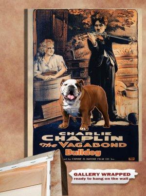 English Bulldog Poster Canvas Print  -  The Vagabond Movie Poster