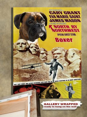 German Boxer Poster Canvas Print  -  North by Northwest Movie Poster