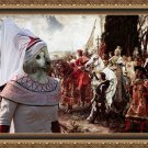 Poodle Fine Art Canvas Print - The reverance to the queen