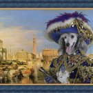 Poodle Fine Art Canvas Print - Casanova in Venice
