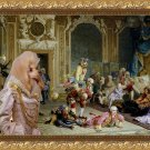 Poodle Fine Art Canvas Print - The queen and and her fools