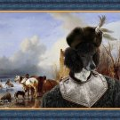 Poodle Fine Art Canvas Print - Fishermen on ice Sun