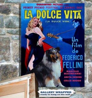 Collie Rough Poster Canvas Print -  La Dolce Vita