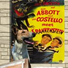 Collie Smooth Poster Canvas Print  -  ABBOT AND COSTELLO MEET FRANKENSTEIN  Movie Poster